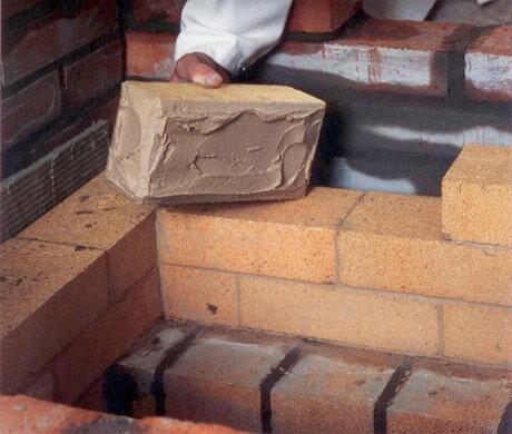 Раствор для печи на основе глины