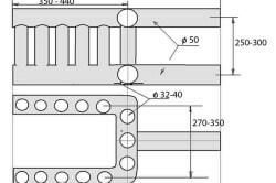 Схема теплообменника из труб