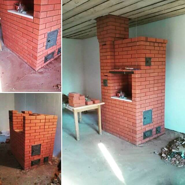 Строим печь из кирпича для дома