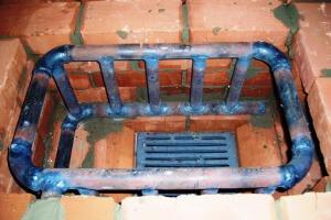 Установка теплообменника в печь