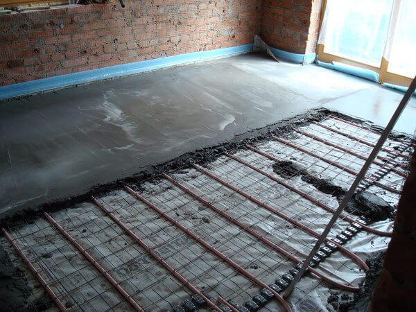 Заливка металлопластиковых труб бетоном