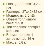 """Технические характеристики чудо-печи на солярогазе ПО-2,5 """"Саво+"""""""