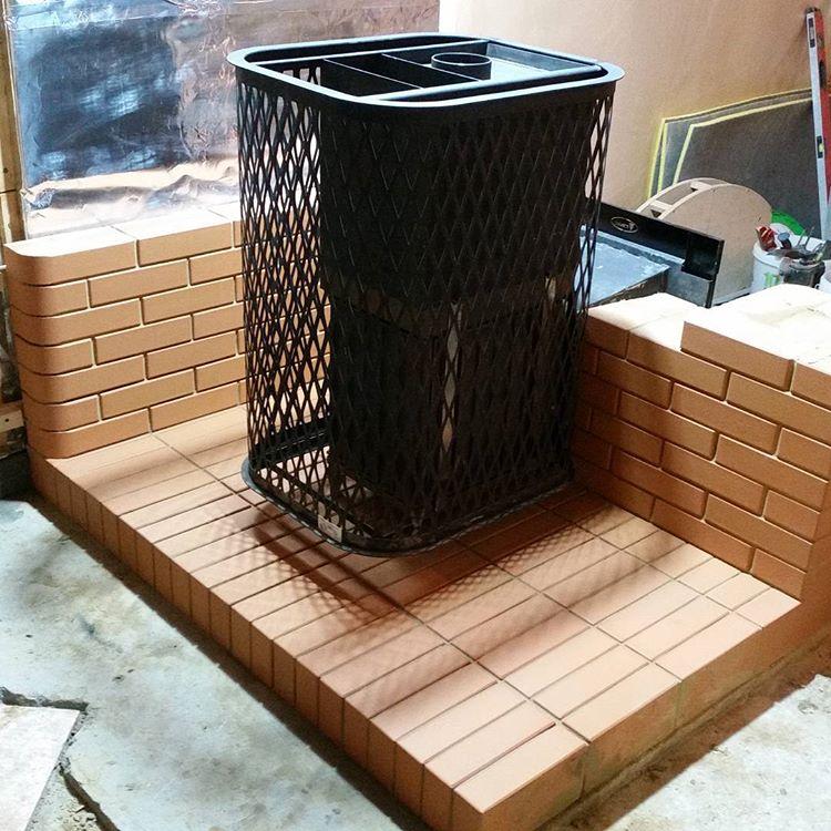 Банная печь в стену