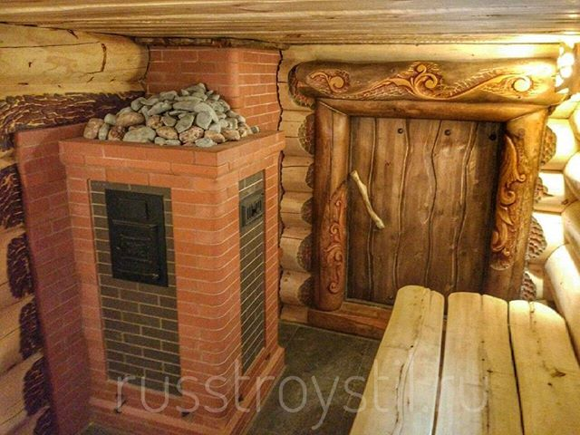 Банная печь из кирпича, каменка