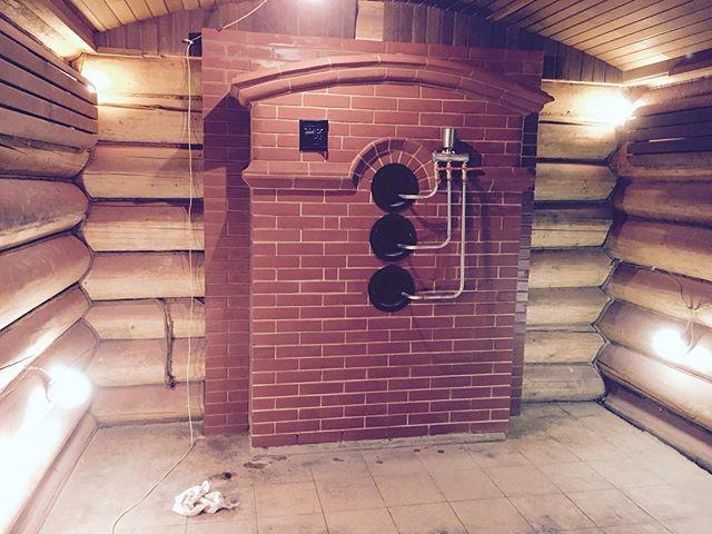 Банная печь с подачей воды больших объемов