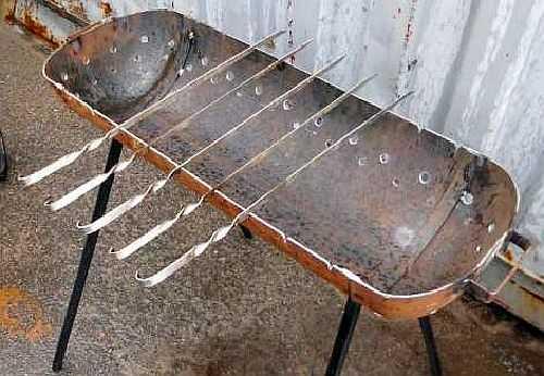 Простая конструкция самодельного мангала