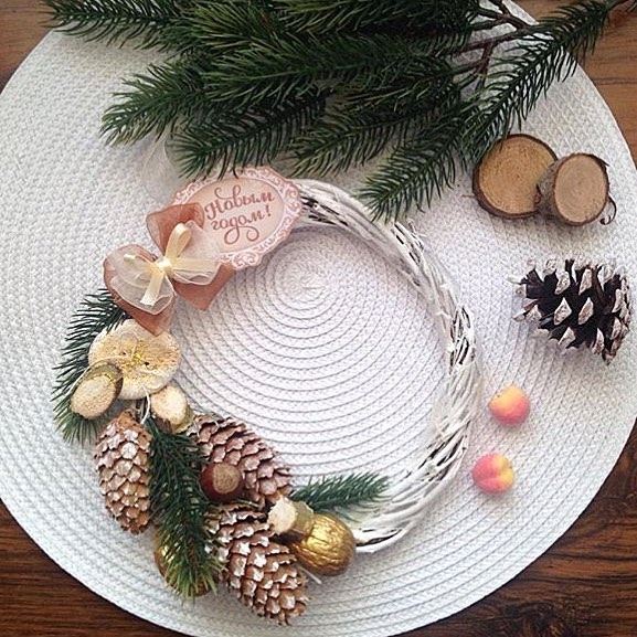 Новогоднее украшение для камина