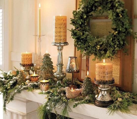 Идеи украшения камина к Новому году и Рождеству